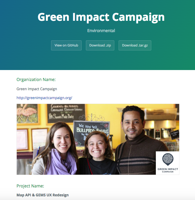 Green Impact Campaign Template on GitHub